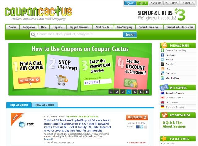 7 cashback websites to save you money on everything coupon cactus site fandeluxe Image collections