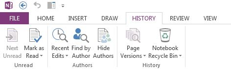 OneNote -- Follow Revisions