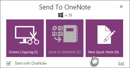 OneNote: Quick Note