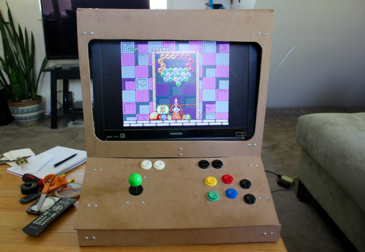 Weekend Project: Build a RetroPie Arcade Cabinet with Removable Screen RetroPie Running