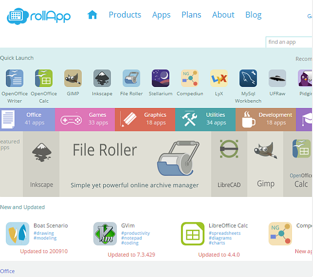 RollApp App Selection