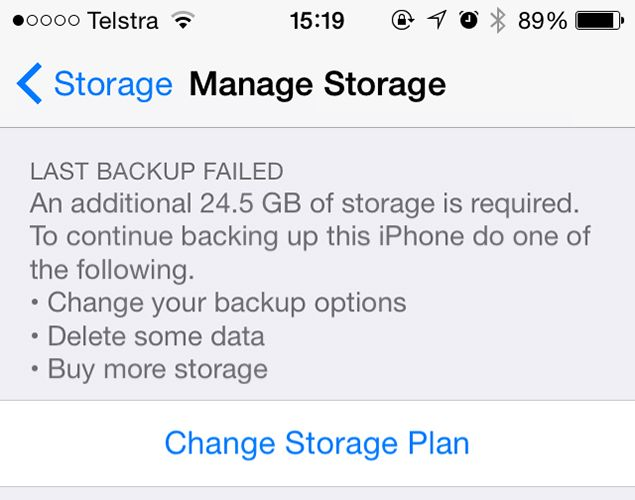 5 iOS Shortcomings Apple Needs to Address icloud storage