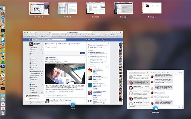 How to Use Multiple Desktops in Mac OS X missioncontrol spaces