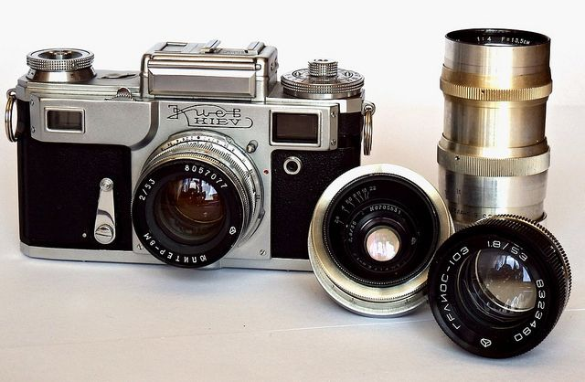 old camera and lenses