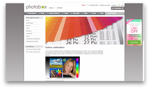 photobox calibration