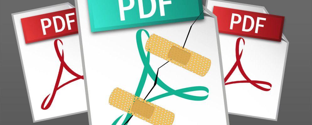 Wie Reparieren oder Wiederherstellen von Daten aus einer beschädigten PDF-Datei