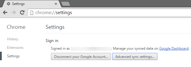 0.2 Chrome browser settings - connect to google account