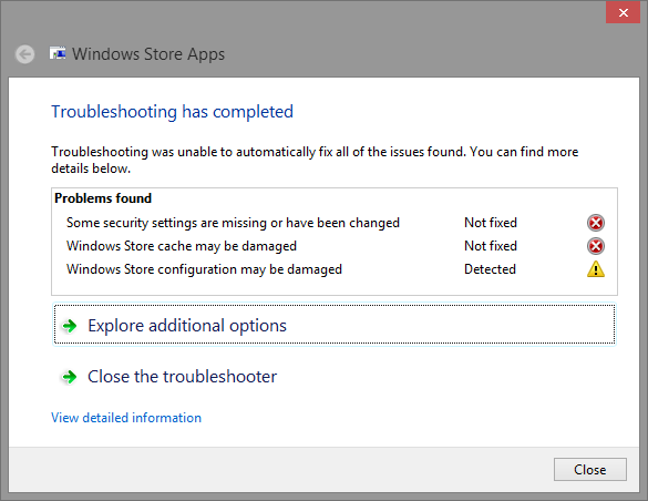 1.3 Windows Apps Troubleshooter
