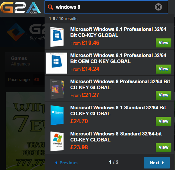 G2A Windows Key