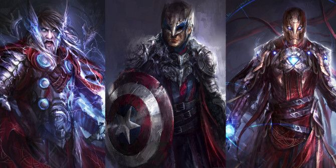 Your Favorite Avengers Characters Reimagined in a Dark Fantasy Style
