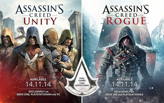 Assassins Creed Rogue and Unity