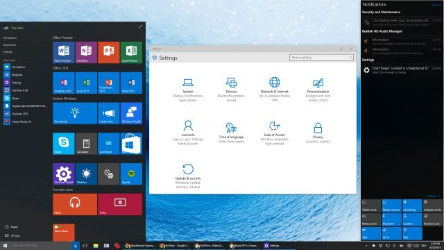 Windows 10 Build 10074 Desktop