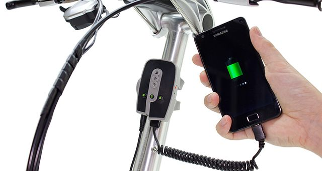 Charge Your Smartphone While You Ride Your Bike bikechargeconsole