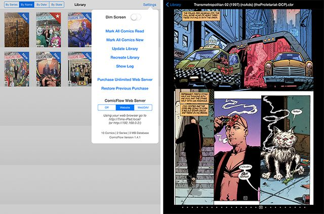 The Best Apps for Reading Comics on Your iPad comicflow2