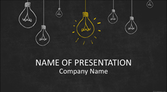 To find free powerpoint themes templates free powerpoint template lightbulbs toneelgroepblik Images