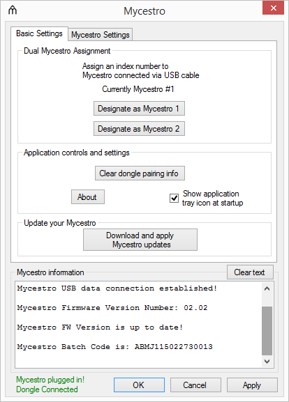 mycestro firmware update