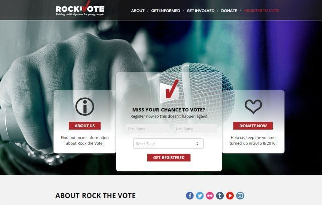 rock the vote site