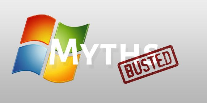 3+ Myths Told about Windows that Aren't True (Anymore)