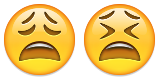 tired anguished emoji emoticon