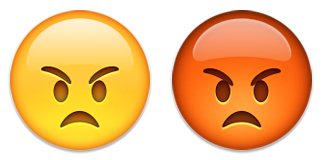 angry emoji emoticon red