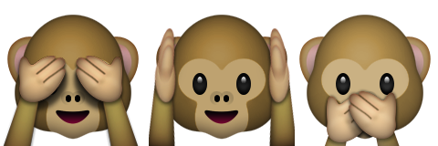 monkeys see hear speak no evil emoji emoticon