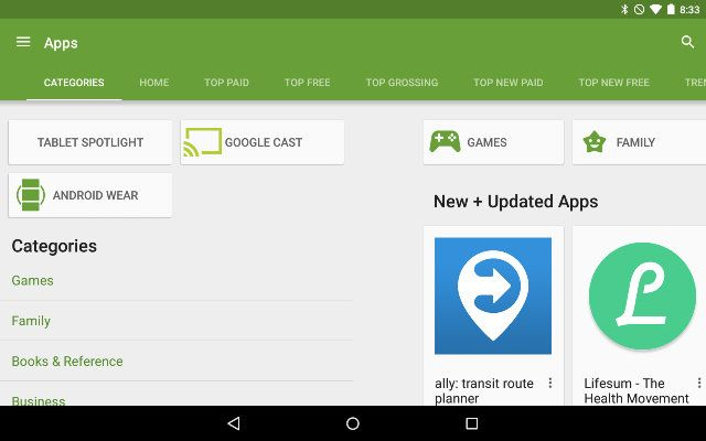 AndroidGooglePlay-Categories