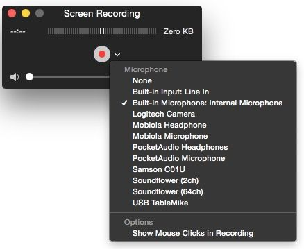 QuickTime Mac Screen Recording