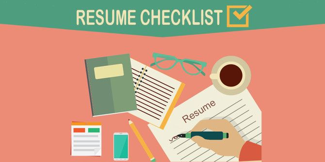Make Sure Your Resume Is Ready to Go with This Checklist