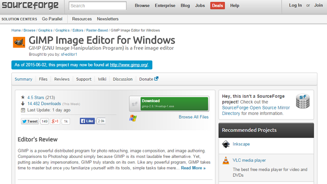 Slashdot-Sourceforge-Gimp