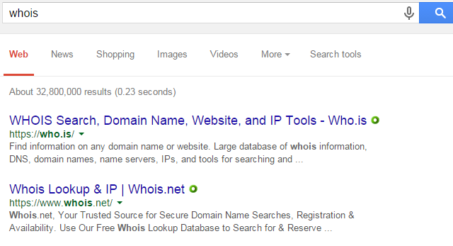 Whois Search