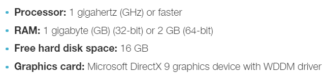 Windows 10 Hardware Requirements