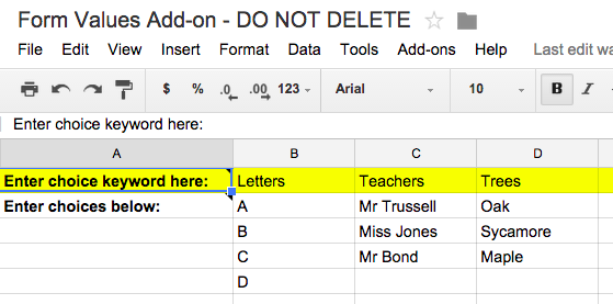 Supercharge Your Google Forms and Get More out of Them formvalues2