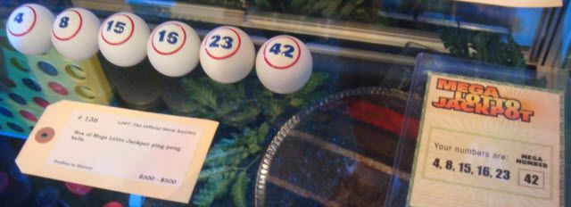 lottery balls and numbers from Lost