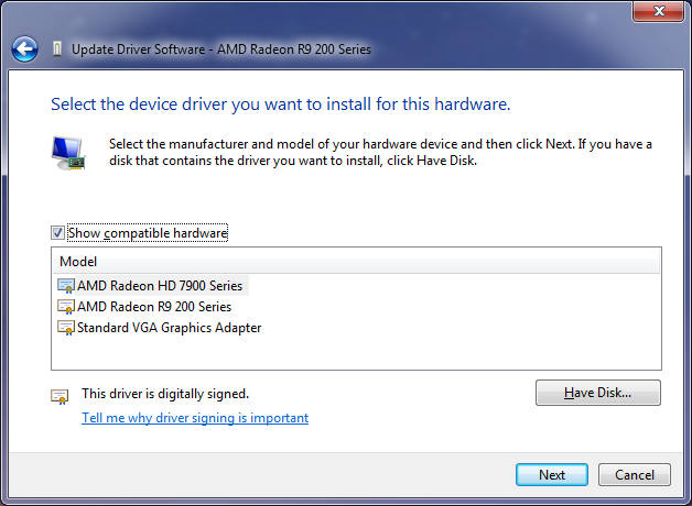 Updating the driver for your video card