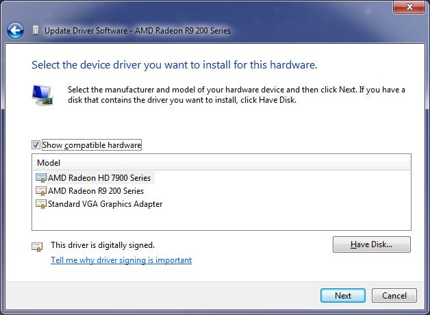 Problems updating ati drivers