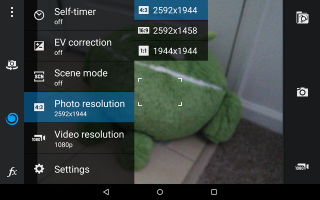 AndroidCameraApps-CameraMX-Interface