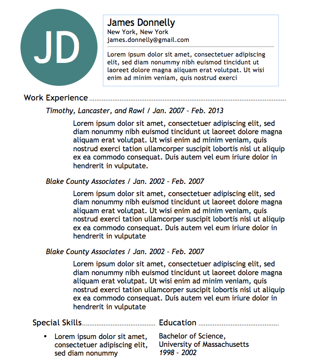 Free microsoft word resume templates to help you land your dream job basic resume 1 thecheapjerseys Gallery