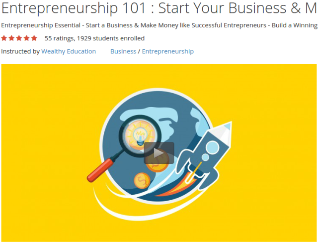Entrepreneurship 101  Start Your Business & Make Money