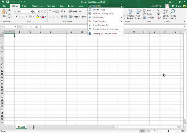 Excel 2016 Preview