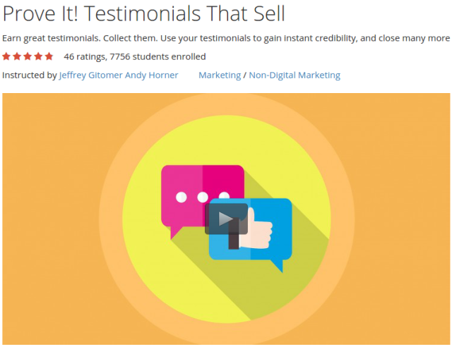Prove It Testimonials That Sell