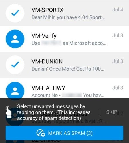 Truemessenger-identify-unknown-text-messages-filter-spam-sms-first-time-spam-exercise