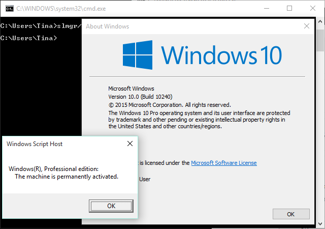 Windows 10 Build 10240 License