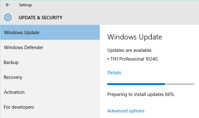 Windows 10 Installing Build 10240