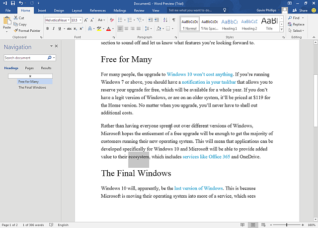 Word 2016 Preview
