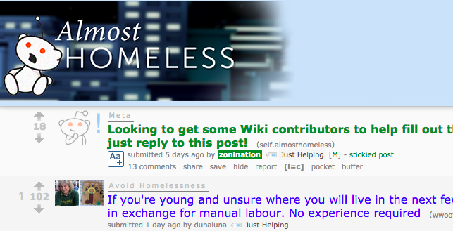 The 10 Best Subreddits About Finance almosthomeless