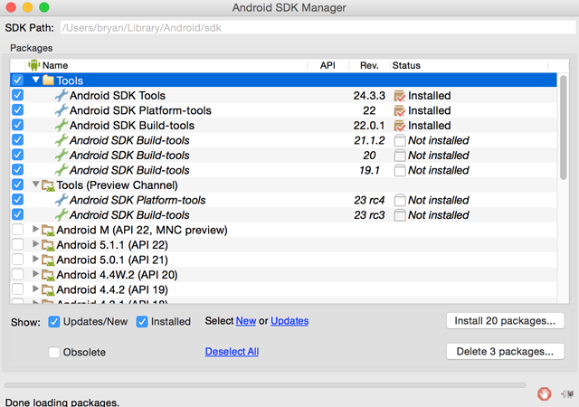 How to Set Up Android Studio on Your Mac (And Why You'd Want to) android sdk packages 640x450