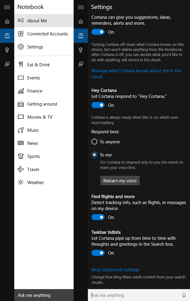muo-windows-windows10-cortana-setup-settings