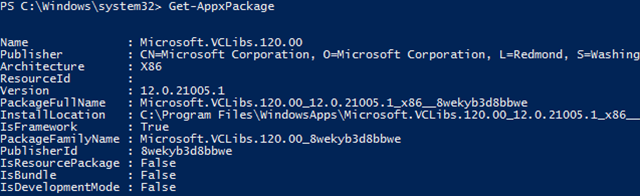 windows-10-powershell-get-appxpackage