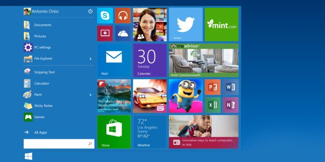 A Guide to the Windows 10 Start Menu