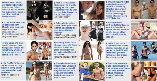 Collated in one day from the Daily Mail site (21.08.2015)